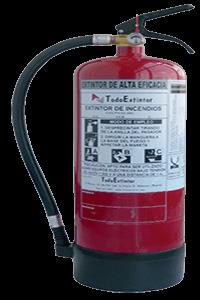 Extintor-polvo-ABC-6kg-ALTA-EFICACIA34A 233B