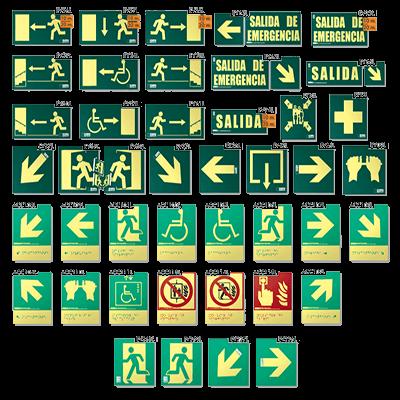 Señales Evacuacion Clase A
